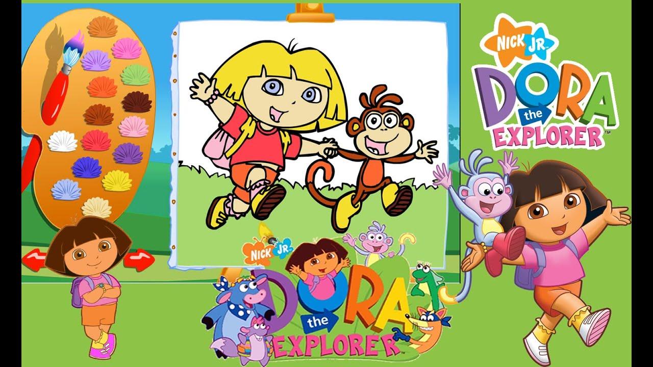 Kaşif Dora Ve Arkadaşları Boyama Oyunu Dora The Explorer Painting