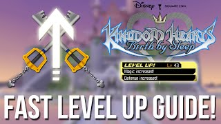 Kingdom Hearts Birth by Sleep - Fast Level up Guide - Kingdom Hearts HD 2.5 Remix