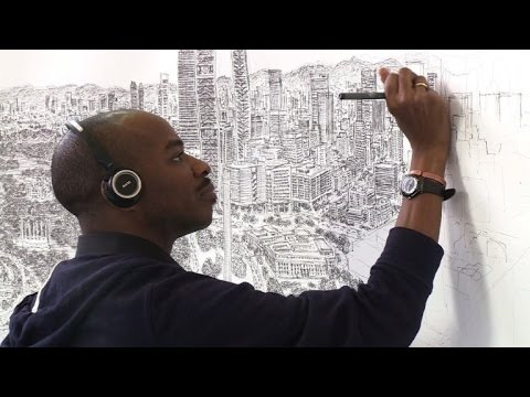 Autistic artist draws Mexico City using photographic memory