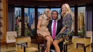 "Kristin Chenoweth and Kelly Ripa Get a Lift on ""LIVE! with Kelly and Michael"""
