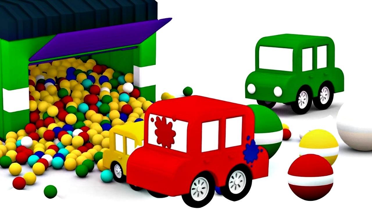 dessin anim de 4 voitures color es jeu de lance pierre youtube. Black Bedroom Furniture Sets. Home Design Ideas
