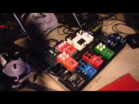 My pedal board and a demo on each pedal