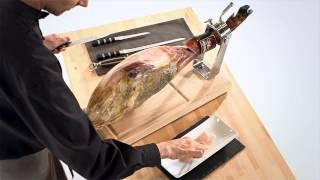 Cómo cortar jamón. Curso de corte en tres minutos