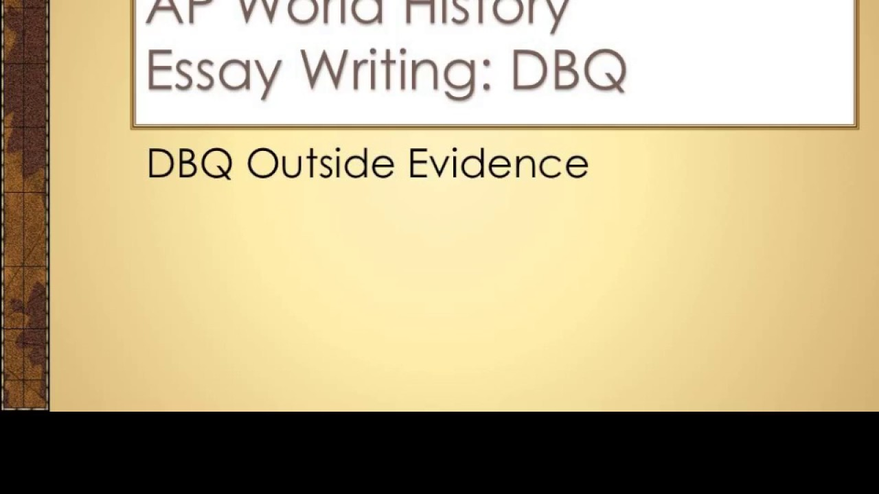 AP World History Past Exam Questions