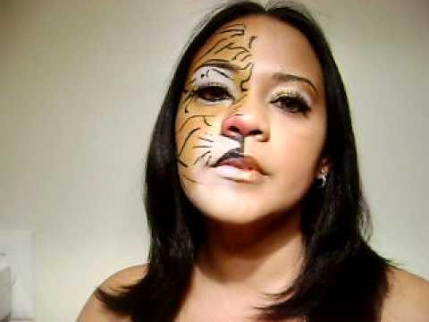 Maquillaje de fantasia.mov De un animal salvaje y de una dama ...