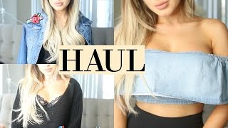 HUGE Spring Boohoo Try On Fashion Haul