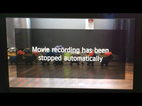 Movie recording has been stopped automatically (Canon FIX)