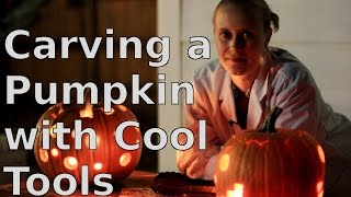 Carving a Pumpkin with Cool Tools