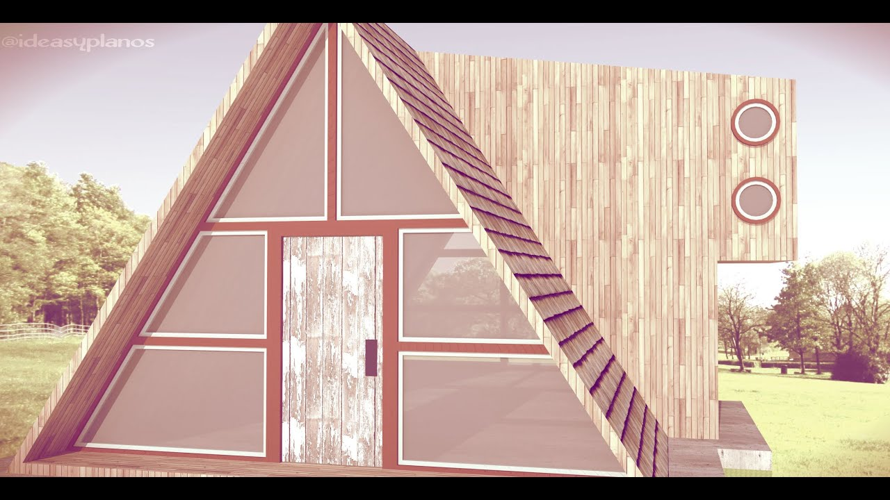 Tiny house triangle wood cabin inspiration google for House inspiration