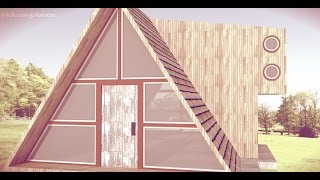 Tiny House - Triangle Wood Cabin - Inspiration Google Sketchup Model @ideasyplanos