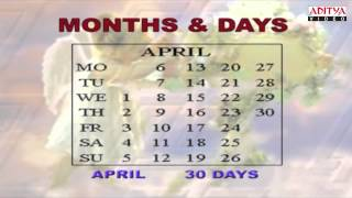 Learn About Months And Days In Calendar - Kids Pre And Play School Nursery Rhymes