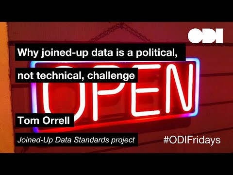 Friday Lunchtime Lecture: Why joined-up data is a political, not technical, challenge