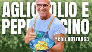 SPAGHETTI AGLIO OLIO PEPERONCINO e bottarga ricetta di Chef Max Mariola