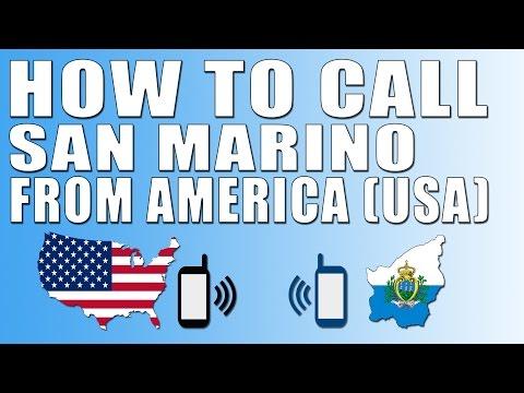 How To Call San Marino From America (USA)