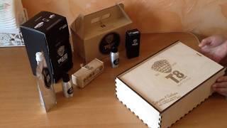 Обзор: Подарочный набор Тайга8 в деревянной упаковке
