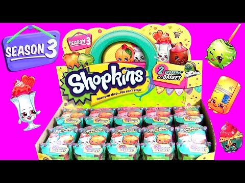Superior 60 SHOPKINS Season 3 Toys Surprise Full Case Of 30 Baskets ❤ Learn All  Shopkins Characters Names