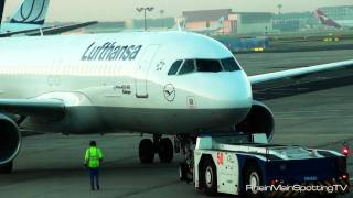 Lufthansa A320 | Pushback | Frankfurt am Main International Airport