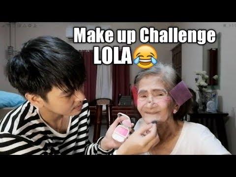 Keith Does my Make up [ wag kang malikot lola ]