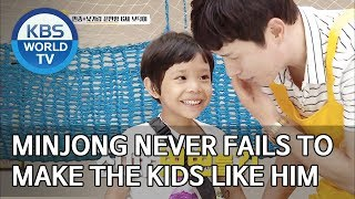 Minjong never fails to make the kids like him [Trio's Childcare Challenge/ENG/2019.09.11]