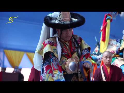 The 17th Gyalwang Karmapa Performed The Lama Dance For The First Time In India