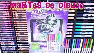COLORING WITH CRAYOLA MARKERS CLEO DE NILE MONSTER HIGH
