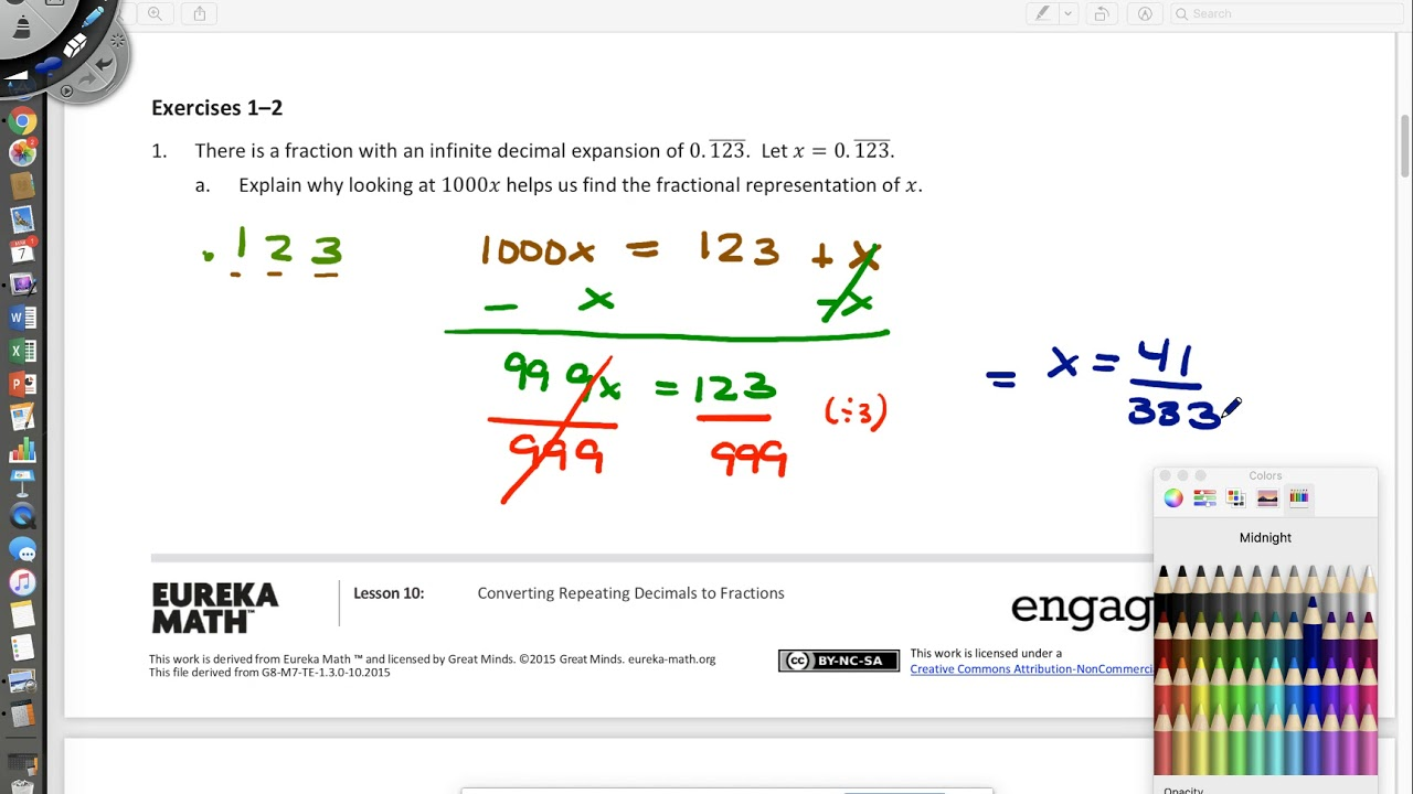 Converting Repeating Decimals to Fractions (examples ... on