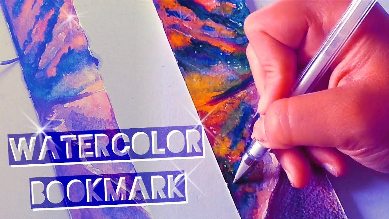 Watercolor bookmarks - Diy Sunset Watercolor Bookmark Tutorial Disegno Segnalibro Con Tramonto Ad Acquerelli Youtube