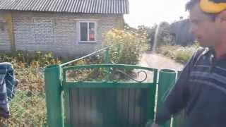 Ворота и калитка, как сделать,(Всем привет, на мой взгляд ворота получились симпотичными))))вовремя видео не смотрите на сварку))) можете..., 2015-08-31T20:31:40.000Z)
