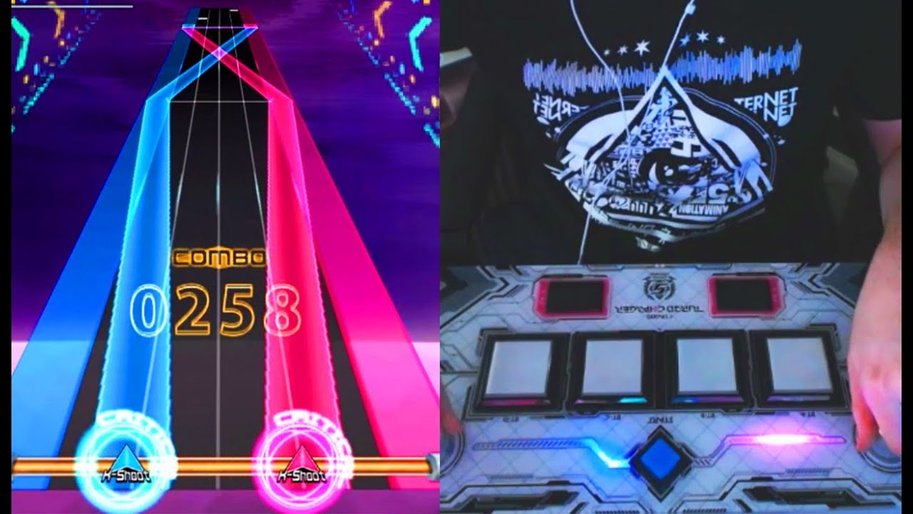 Playing (fake) SOUND VOLTEX on my Turbocharger+!!!