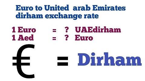 Euro to Aed I euro to united arab emirates dirham | euro to aed | aed to eur | euro to dirham
