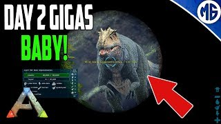 DAY 2 GIGAS BABY! 3 Man PvP Servers - Ark: Survival Evolved