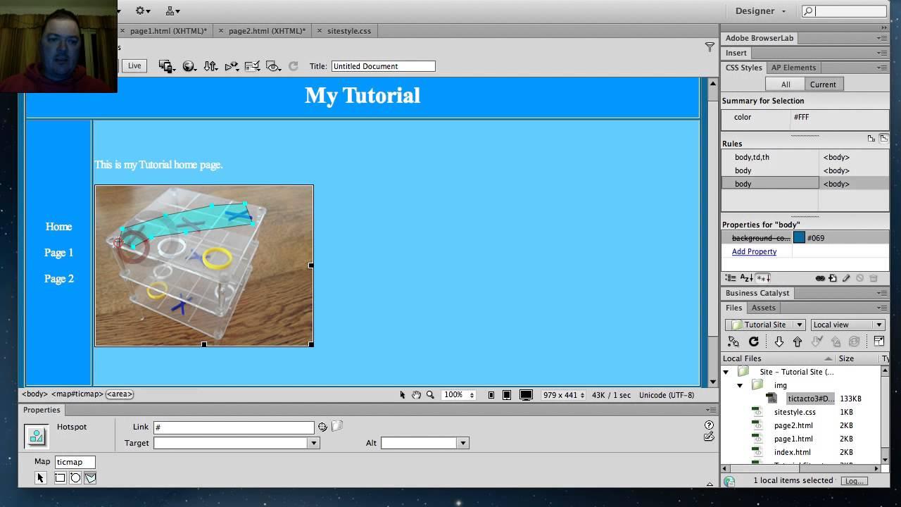 how to create image map in dreamweaver cs6