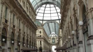 ヴィットリオ・エマヌエーレ2世のガレリア(Galleria Vittorio Emanuele II)。
