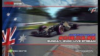 rFactor 2 – IRG Formula 2018 – ROUND 1 – Australian GP - LIVESTREAM