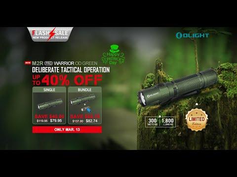 Olight 40% Flash Sale M2R Pro Warrior & i1R 2 EOS March 13