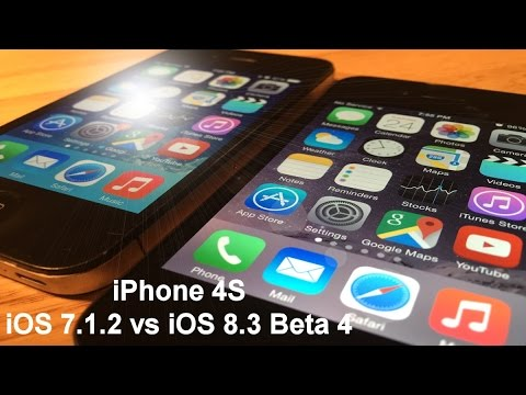 ios 8 on iphone 4s ios 8 3 beta 4 vs ios 7 1 2 iphone on 4s 8781