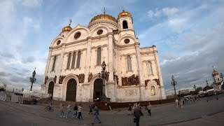 ⁴ᴷ⁵⁰ Walking Moscow: Moscow Center - from Biblioteka Imeni Lenina to Cathedral of Christ the Saviour