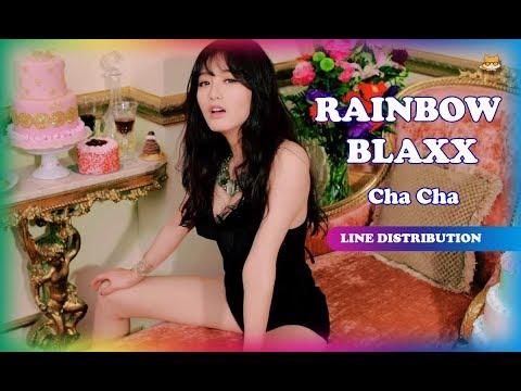 Line Distribution: Rainbow Blaxx - Cha Cha (Color Coded)