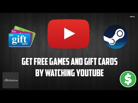 Get free Steam games and Gift cards by watching YouTube videos!!! | eBonus.gg (Working 2017)