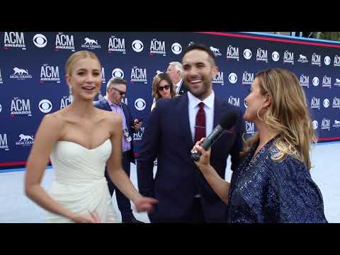 Tyler Rich And Sabina ACM Red Carpet 2019