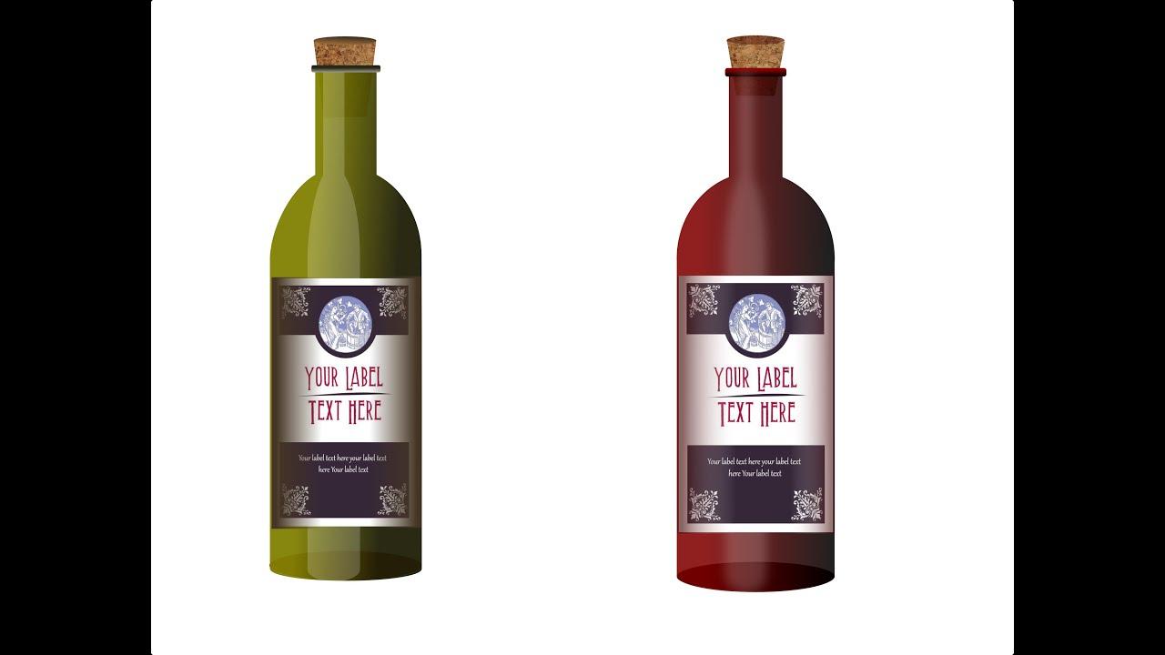 Inkscape 11 como hacer una botella de vino youtube - Botelleros de vino ...
