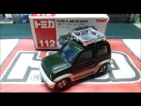 絕版)Tomica unboxing no.112 Mitsubishi Pajero Jr (with roof carrier