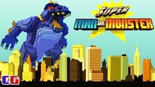 МОНСТРЫ В ГОРОДЕ БИТВА С ПИКСЕЛЬНЫМИ МУТАНТАМИ Мультяшная игра Super Man Or Monster