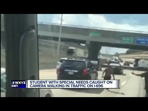 Video shows special needs teen walking in middle of metro Detroit highway