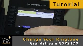 Change Your Ringtone - Grandstream Tutorials - ESI Communications