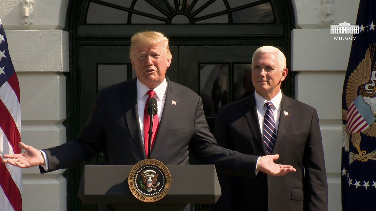 Hasil gambar untuk President Trump Delivers Remarks on the Economy