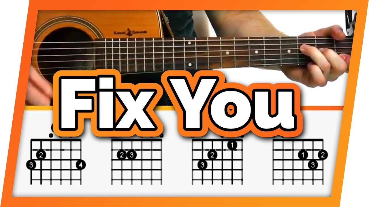 Fix You Coldplay Guitar Tutorial Lesson For Beginners Easy