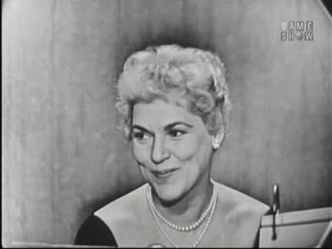 What's My Line?  Dr. Norman Vincent Peale; Judy Holliday; Robert Preston panel Mar 17, 1957