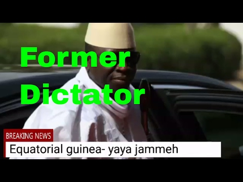 The Reject of Gambia's ex president Exile Yahya Jammeh  Equatorial Guinea By The Opposition