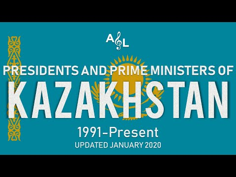 Kazakhstan: List of Flags, Emblems, Presidents, and Prime Ministers (2020)